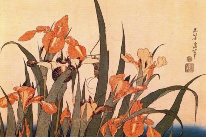 Копия японской гравюры в ХУдожественной школе Пальмира Арт