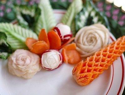 Карвинг — искусство создания изящных фигурок из овощей и фруктов
