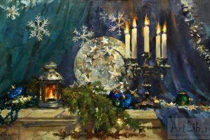 Мастер-класс по масляной живописи «Новогодний натюрморт»