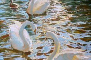 Мастер-класс  по масляной живописи «Лебеди»