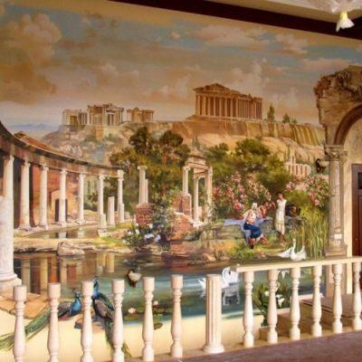 Роспись стен как элемент декора