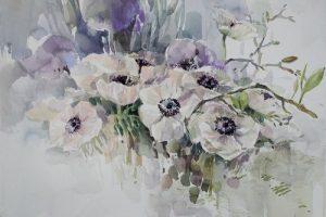 Мастер-класс по масляной живописи «Анемоны»