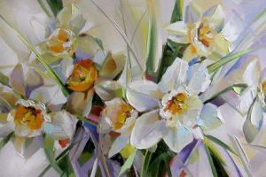Мастер-класс  по масляной живописи «Нарциссы»