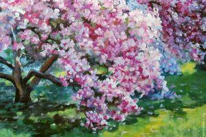 Мастер-класс по масляной живописи «Цветущая весна»