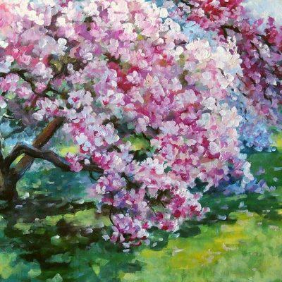 Мастер-класс по масляной живописи «Цветущая весна» состоится 27.04.2020