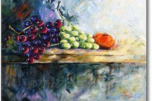 Мастер-класс по масляной живописи «Виноград»