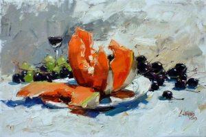 Мастер-класс по масляной живописи «Арбузы и дыни мастихином»