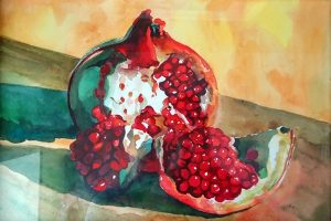 Мастер-класс по масляной живописи «Гранат»