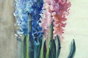 Мастер-класс по масляной живописи «Гиацинт»