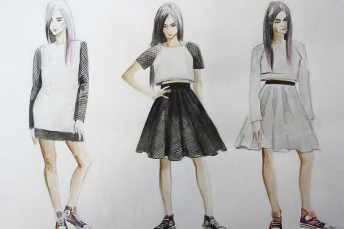 Рисунок для модельеров в ХУдожественной школе Пальмира Арт