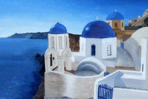 Мастер-класс по масляной живописи «Греция»