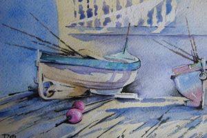 Мастер-класс по масляной живописи «Лодки»