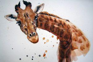 Мастер-класс по масляной живописи «Жирафы»