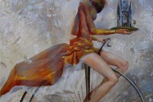 Мастер-класс по масляной живописи «Девушка на велосипеде»