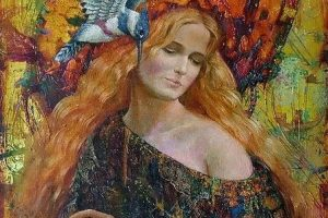 Мастер-класс по масляной живописи «Девушка-осень»