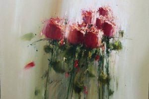 Мастер-класс по масляной живописи «Розы мастихином»