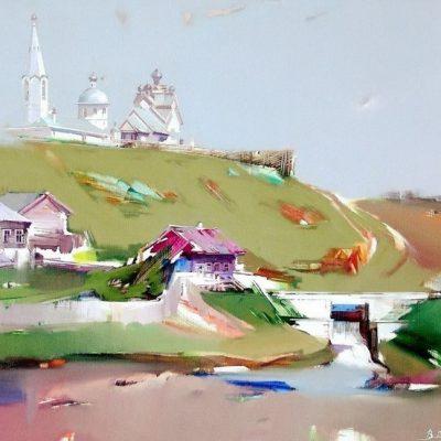 Мастер-класс по масляной живописи «Купающиеся в облаках», пейзажи Виктора Подгорного состоится 21.04.2020