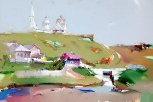 Мастер-класс по масляной живописи «Купающиеся в облаках», пейзажи Виктора Подгорного