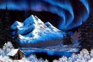 Мастер-класс по масляной живописи «Северное сияние»