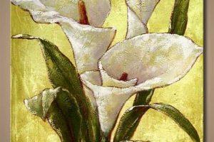 Мастер-класс по масляной живописи «Белые Каллы. Декоративное панно»