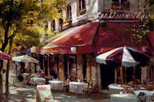 Мастер-класс по масляной живописи «Французское кафе»