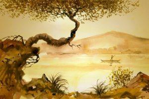 Мастер-класс по масляной живописи «Картина в китайском стиле»