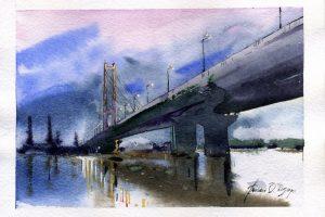 Мастер-класс по масляной живописи «Мосты, уходящие в туман»