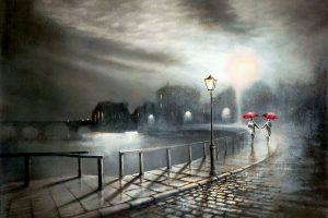 Мастер-класс по масляной живописи «Ночь, улица, фонарь…»