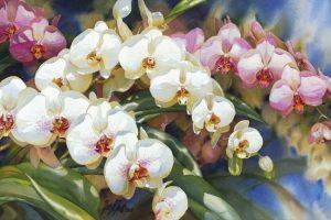 Мастер-класс по масляной живописи «Орхидея. Декоративное панно»