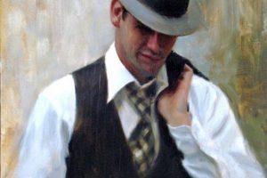 Мастер-класс по масляной живописи «Стильный мужчина»