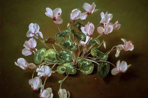 Мастер-класс по масляной живописи «Цикламен»