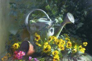 Мастер-класс по масляной живописи «Цветы в стиле прованс»