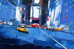 Мастер-класс по масляной живописи «Проспекты больших городов, изучаем творчество Даниэля Кастана»