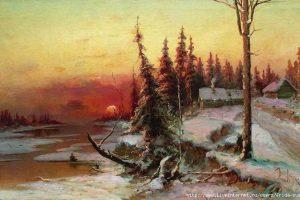 Мастер-класс по масляной живописи «Зимние пейзажи, изучаем творчество Ю. Клевера»