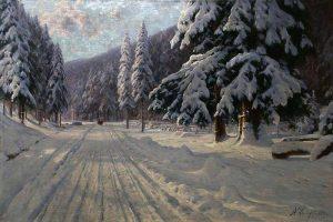 Мастер-класс по масляной живописи «Зимний пейзаж»