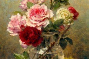Мастер-класс по масляной живописи «Букет роз»