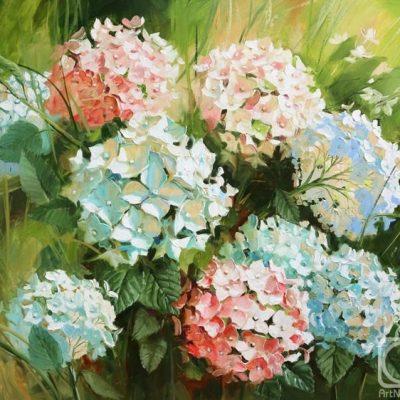 Мастер-класс  по масляной живописи «Гортензия» состоится 22.04.2020