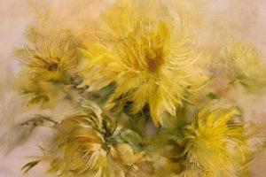 Мастер-класс по масляной живописи «Хризантемы»