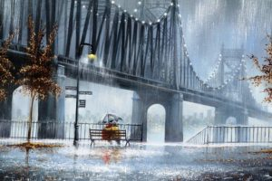 Мастер-класс по масляной живописи «Дождливый городской пейзаж»