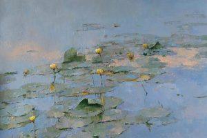 Мастер-класс по масляной живописи «Кувшинки в пруду. Камерная живопись»