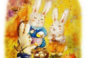 Мастер-класс по масляной живописи «Пасхальные зайчики»