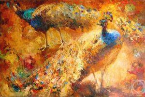 Мастер-класс по масляной живописи «Павлины»