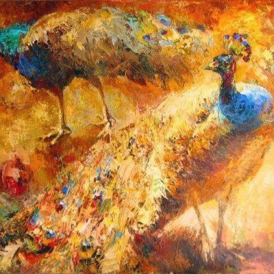 Мастер-класс по масляной живописи «Павлины» состоится 25.04.2020
