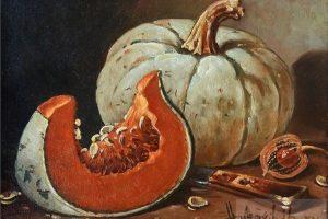 Мастер-класс по масляной живописи «Тыквы мастихином»