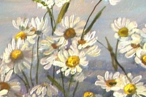 Мастер-класс  по масляной живописи «Ромашки, полевые цветы»