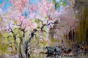 Мастер-класс по масляной живописи «Яблоня в цвету»
