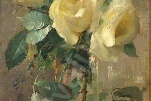 Мастер-класс по масляной живописи «Букет белых роз»