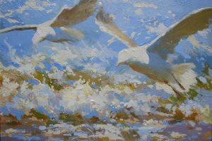 Мастер-класс по масляной живописи «Море, чайки»