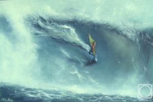 Мастер-класс по масляной живописи «На гребне волны, серфинг»