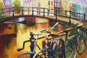 Мастер-класс по масляной живописи «Велосипед»